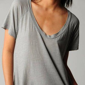 James Perse Womens Gray Scoop Neck Shirt Size 1